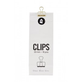 Clips con pinza oro House Doctor 33 mm