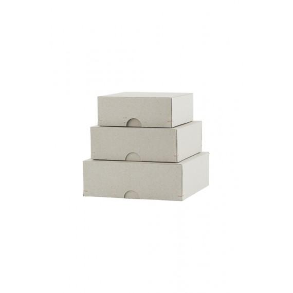 Set de 3 cajas cuadradas House Doctor