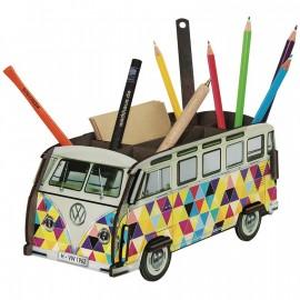 Autobús portalápices triángulos
