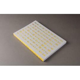 Cuaderno Happily Ever Paper Crypto amarillo 17x24cm