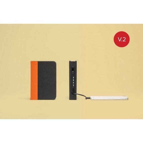 Lampara-libro-mini lumio+ naranja/negro