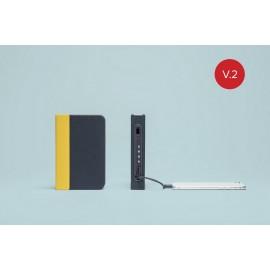 Lampara-libro-mini lumio+ amarillo/azul