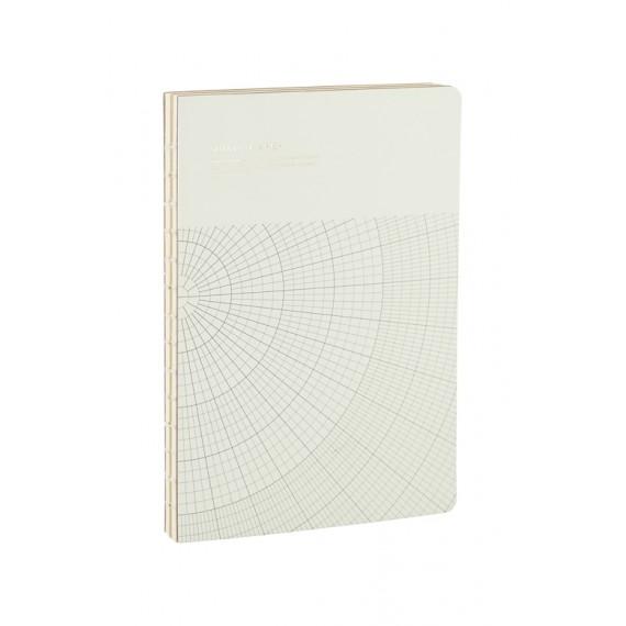 Cuaderno geométrico Monograph gris claro 17,7x25,2 cm