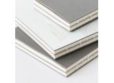 Cuaderno geométrico Monograph gris claro 13x18 cm