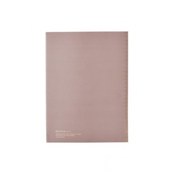 Cuaderno A4 Monograph tapa fina borgoña claro
