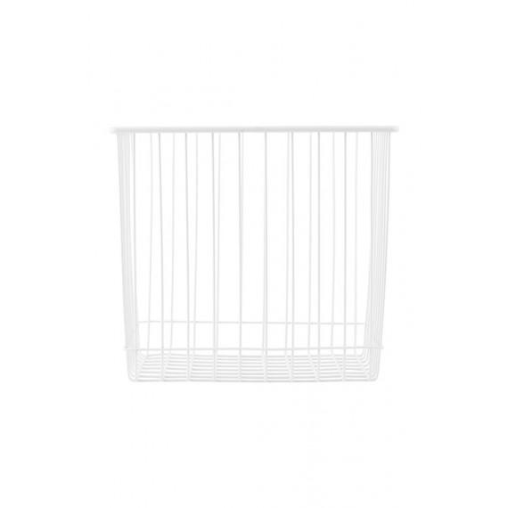 Cesta Monograph de metal blanca 22x20x20 cm