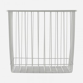 Cesta Monograph de metal gris 22x20x20 cm