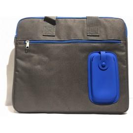 Maletín para portátil gris y azul