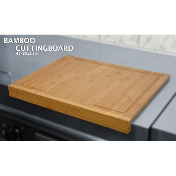Tabla de cortar de bambú  41x31 cm.