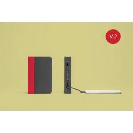 Lampara-libro mini lumio+ rojo/gris
