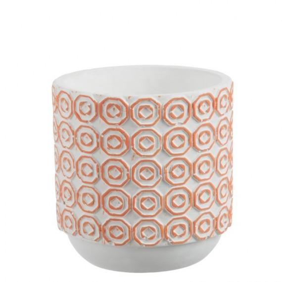 Maceta redonda de cerámica 14x14 cm