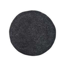 Cojín de fieltro negro hk living d.35 cm.