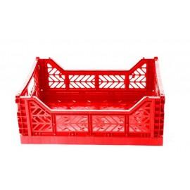 Caja midi plegable roja de AyKasa 40x30x14.5 cm