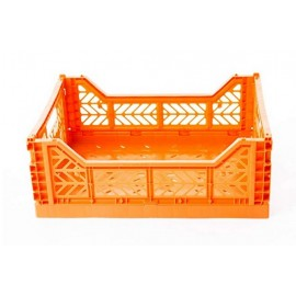 Caja midi plegable naranja de AyKasa 40x30x14.5 cm