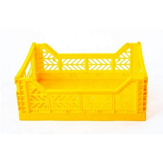 Caja midi plegable amarilla de AyKasa 40x30x14.5 cm