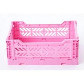 Caja midi plegable rosa de AyKasa 40x30x14.5 cm
