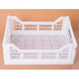 Maxi caja plegable blanca de AyKasa 60x40x22.5 cm