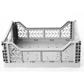 Maxi caja plegable gris de AyKasa 60x40x22.5 cm